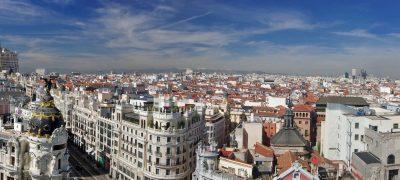 Panoramica De Madrid Desde Ciculo De Bellas Artes