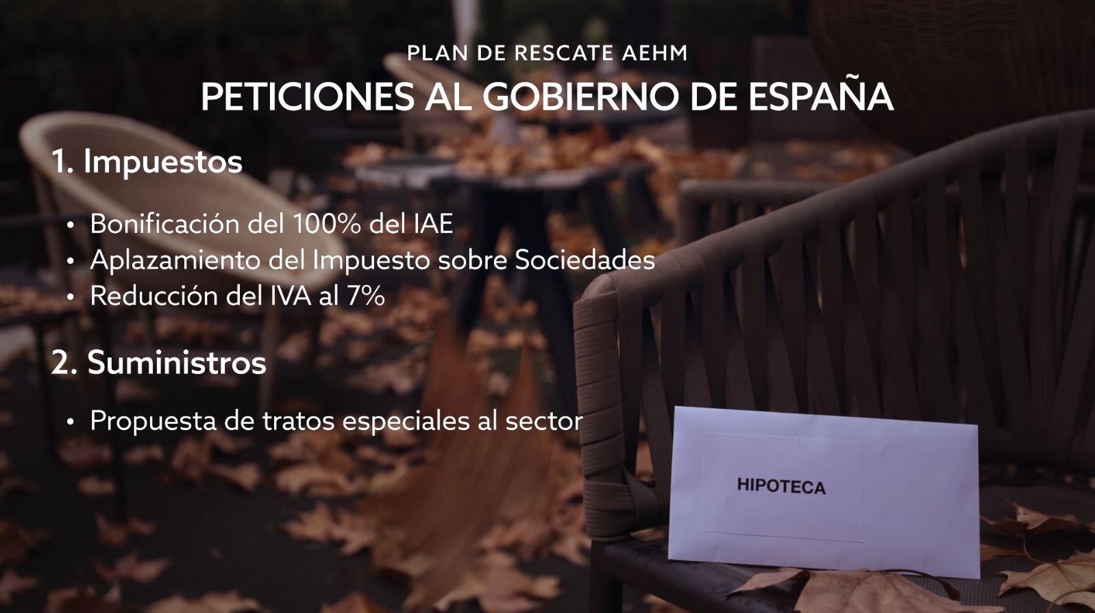 1. Peticiones Al Gobierno De España