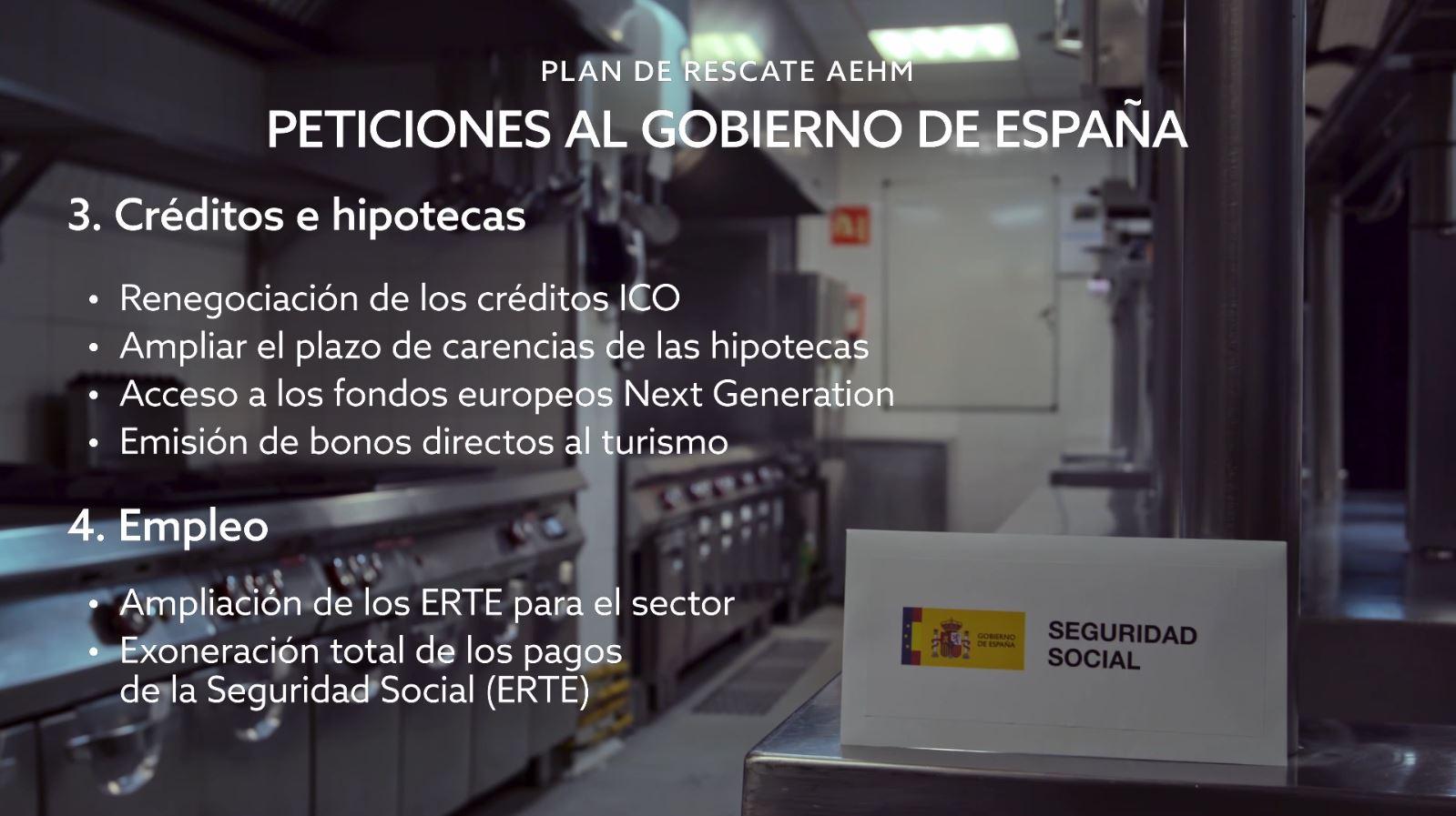 2. Peticiones Al Gobierno De España