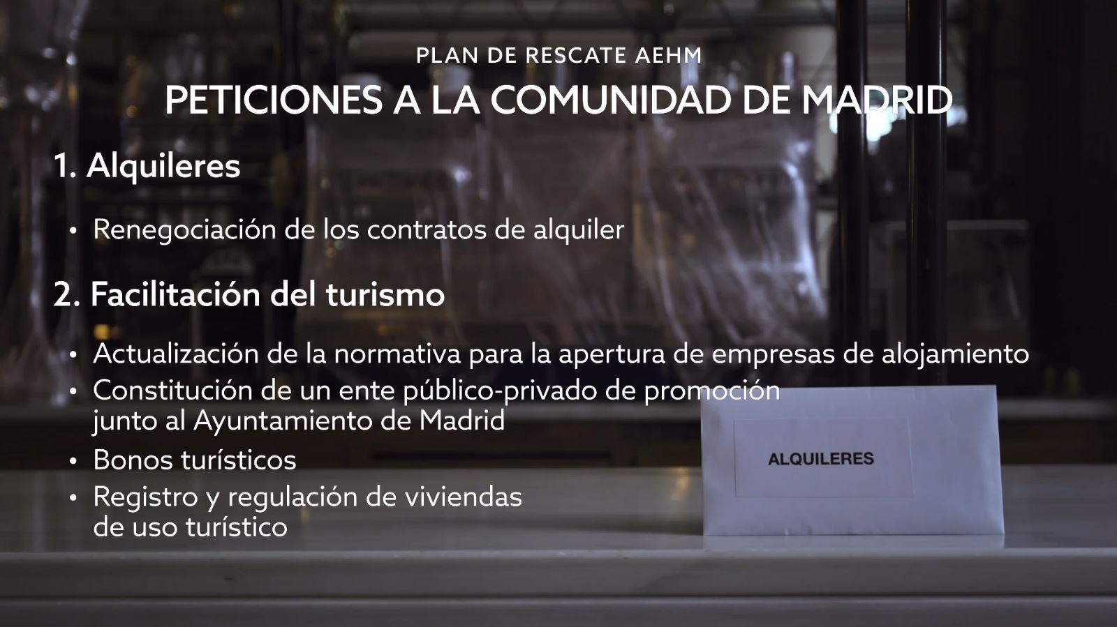 Peticiones a la Comunidad de Madrid