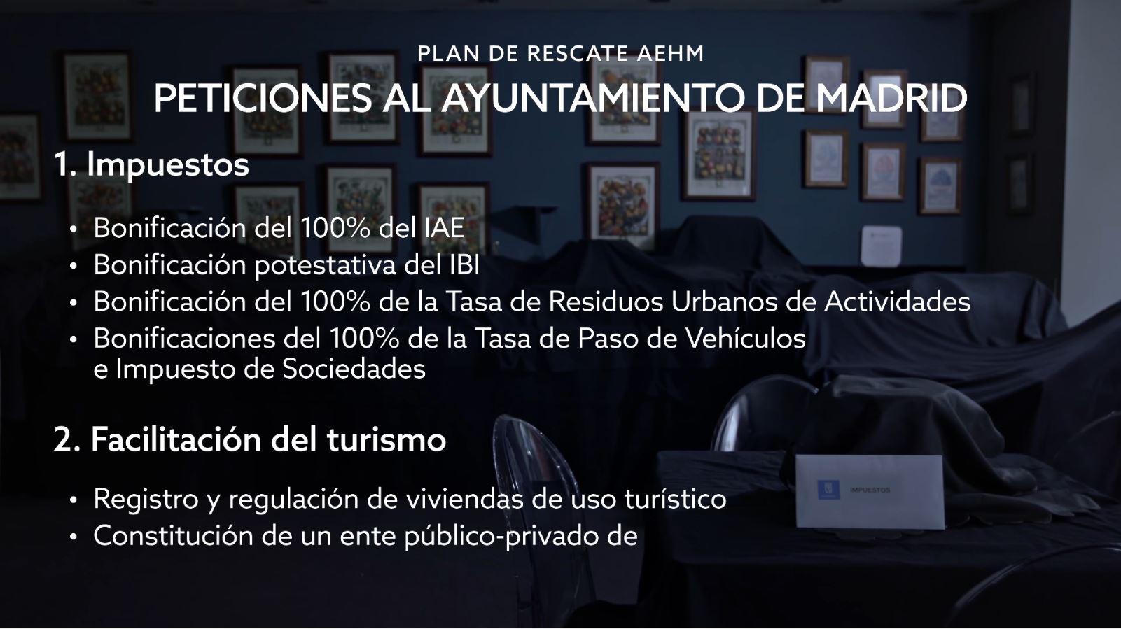 Peticiones al Ayuntamiento de Madrid