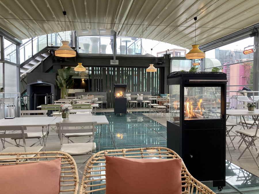 Terraza Hotel Santo Domingo invierno 2020